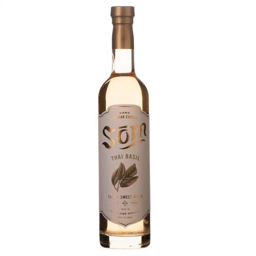 Som Cane Vinegar Cordial Cocktail Mixer - Thai Basil - 16.9 oz
