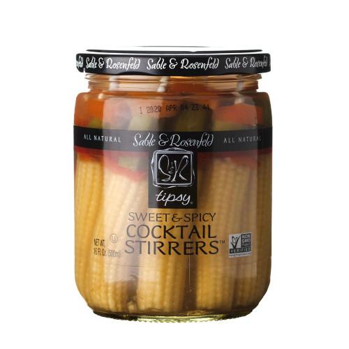 Sable & Rosenfeld Sweet & Spicy Tipsy Edible Cocktail Stirrer Vegetable Skewers - 16 oz Jar