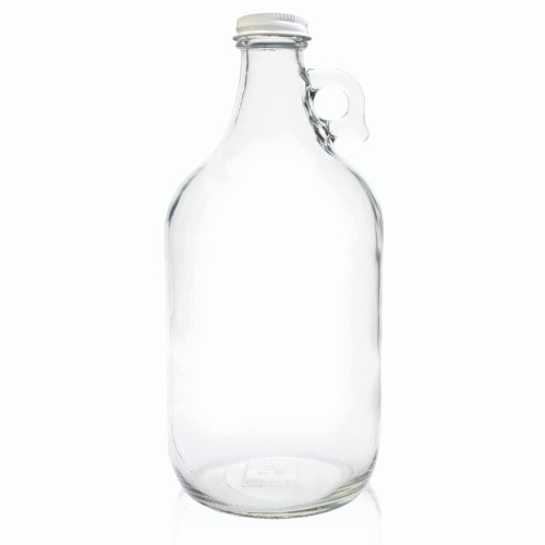 Clear Glass Beer Growler - 64 oz - With Cap