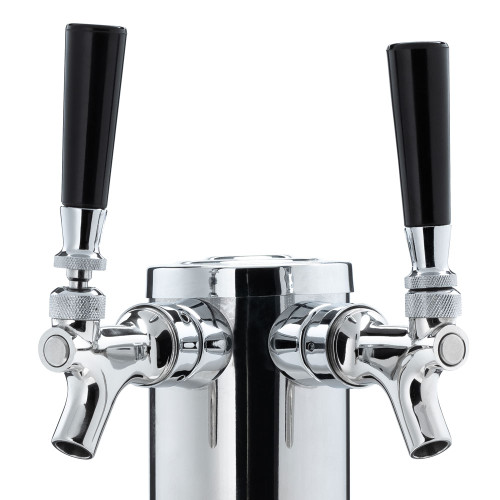 "Draft Beer Tower - Stainless Steel - 3"" Column - 2 Faucets"