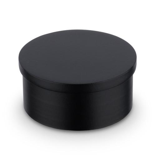 "Flush Flat End Cap - Matte Black - 2"" OD"