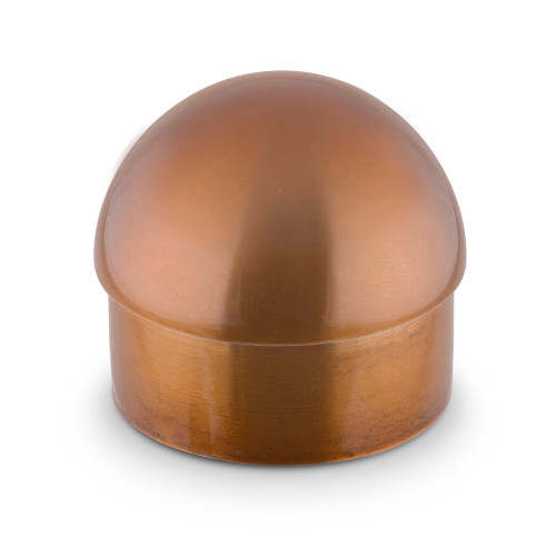 "Domed End Cap - Sunset Copper - 2"" OD"