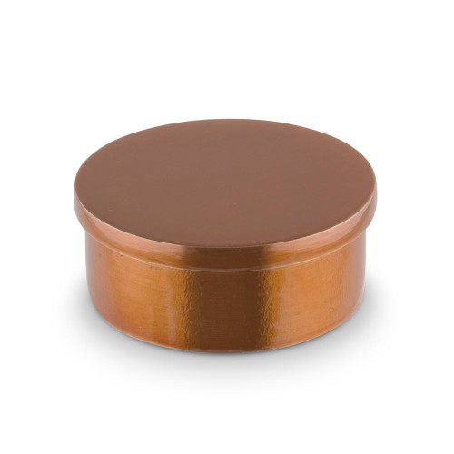"Flush Flat End Cap - Sunset Copper - 2"" OD"