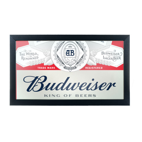Budweiser King of Beers Framed Bar Wall Mirror