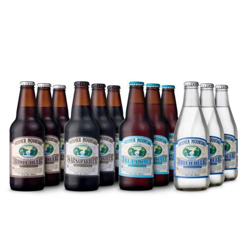 Hosmer Mountain Antique Soda Sampler Kit - Pack of 12 Bottles
