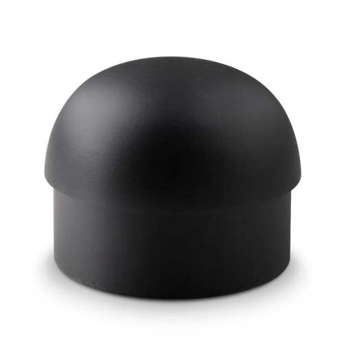 "Domed End Cap - Matte Black - 2"" OD"
