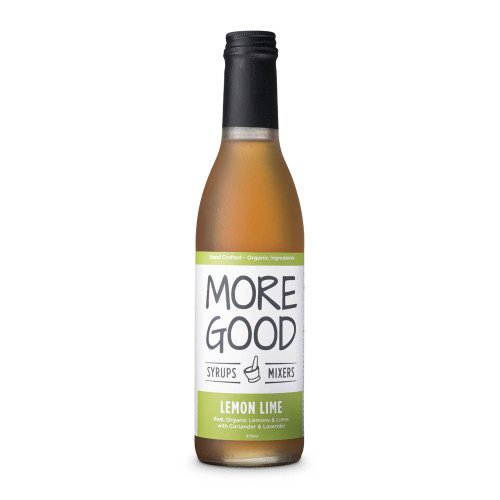 More Good Handcrafted Organic Lemon Lime Cocktail Mixer & Soda Syrup - 375ml (KegWorks)
