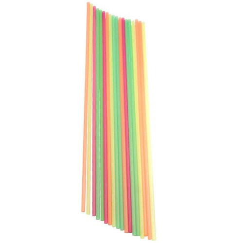 Extra Long Disposable Multi-Colored Straws - 19.5
