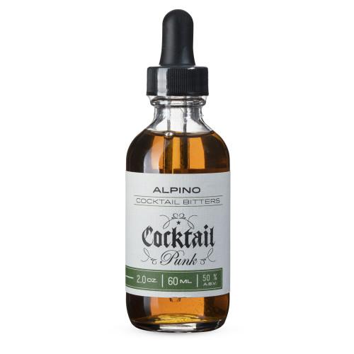Cocktail Punk Alpino Cocktail Bitters - Sage, Mint & Herbal Flavors - 2 oz