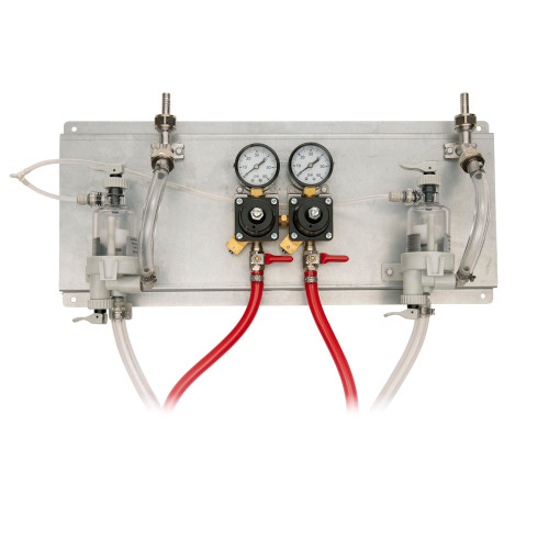 2 Product Deluxe Regulator Panel with Plastic FOB and Hoses