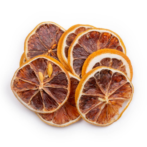 Blue Henry Dehydrated Lemons Cocktail Garnish - Dried Lemon Wheels - 3 oz Pouch