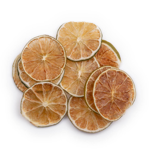 Blue Henry Dehydrated Limes Cocktail Garnish - Dried Lime Wheels - 3 oz Pouch