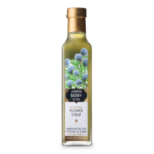 Floral Elixir Co. All Natural Juniper Berry Flower Syrup - 8.5 oz