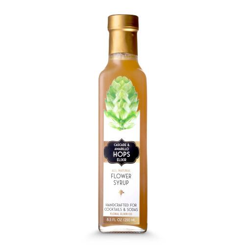 Floral Elixir Co. All Natural Cascade & Amarillo Hops Flower Syrup - 8.5 oz
