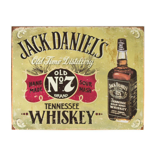Jack Daniel's Whiskey Old Time Distillery Metal Bar Sign