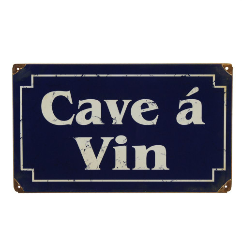 Cave �� Vin Vintage Wine Bar Metal Sign