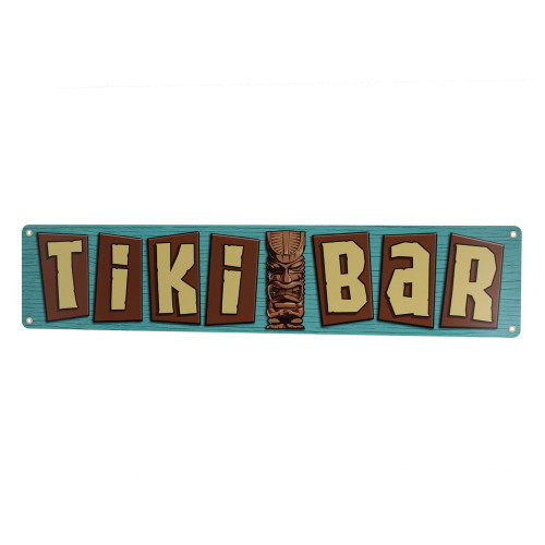 Tiki Bar Retro Metal Bar Sign
