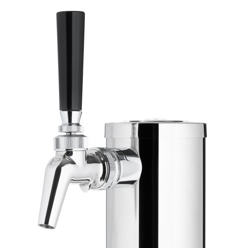 "Draft Beer Tower - Stainless Steel - 3"" Column - 1 Perlick 630SS Faucet"