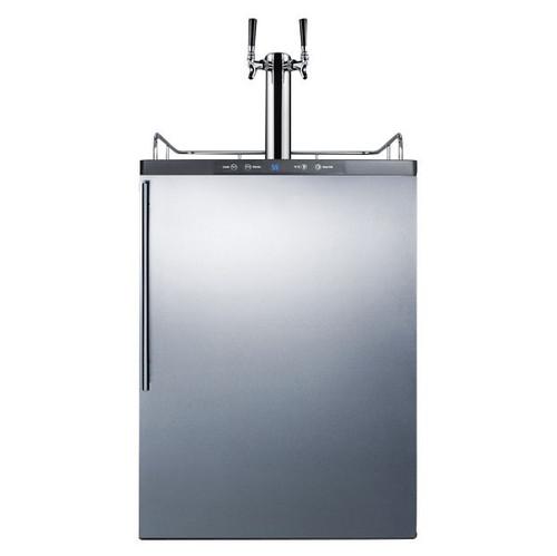 Summit Under Counter Kegerator - 2 Faucets - Stainless Steel Door