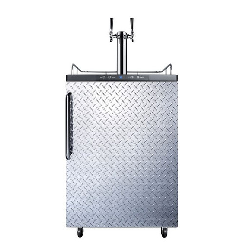 Summit Kegerator - 2 Faucet - Diamond Plate - Outdoor