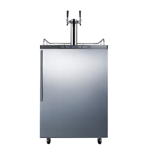 Summit Kegerator - 2 Faucet - Stainless Steel - Outdoor