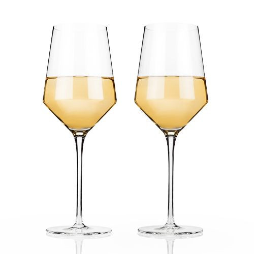Viski Raye Crystal Chardonnay Wine Glasses - 13 oz - Set of 2