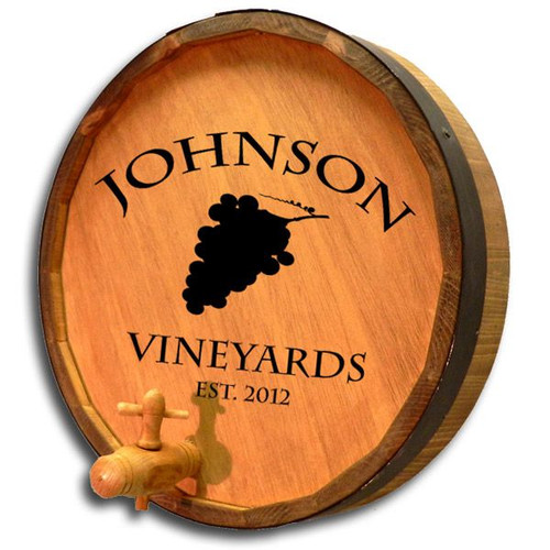 Personalized Vineyards Barrel End