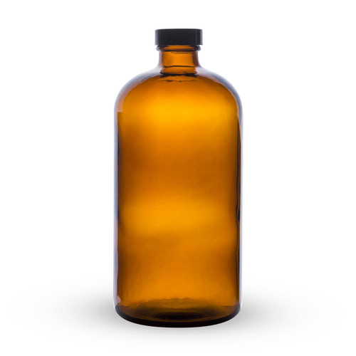 Boston Round Growlette Amber Beer Growler - 32 oz