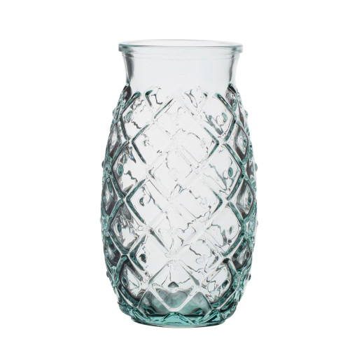 Primitive Pineapple Handblown Recycled Glass Tumbler - 24 oz