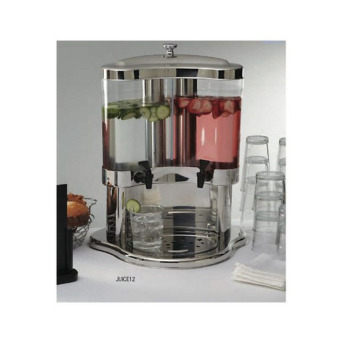 Stainless Steel Dual 5.3 Quart Beverage Dispenser