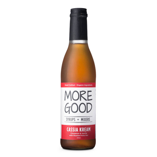 More Good Handcrafted Organic Cassia Kream Cocktail Mixer & Soda Syrup - 375ml