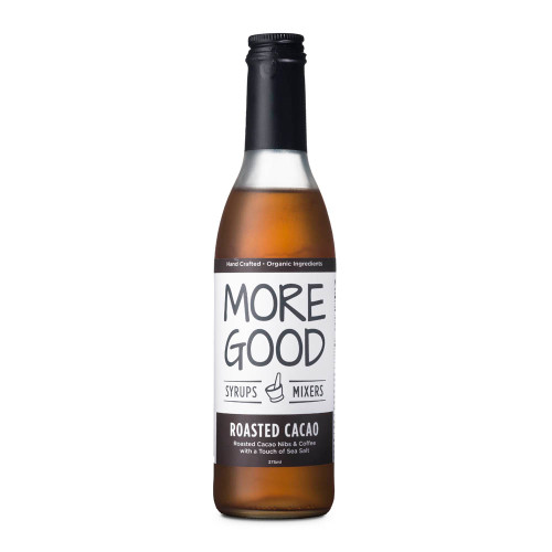 More Good Handcrafted Organic Roasted Cacao Cocktail Mixer & Soda Syrup - 375ml