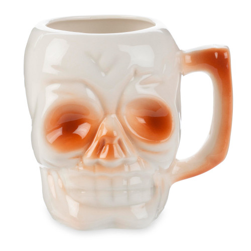 Skull Ceramic Tiki Mug with Handle - 10 oz