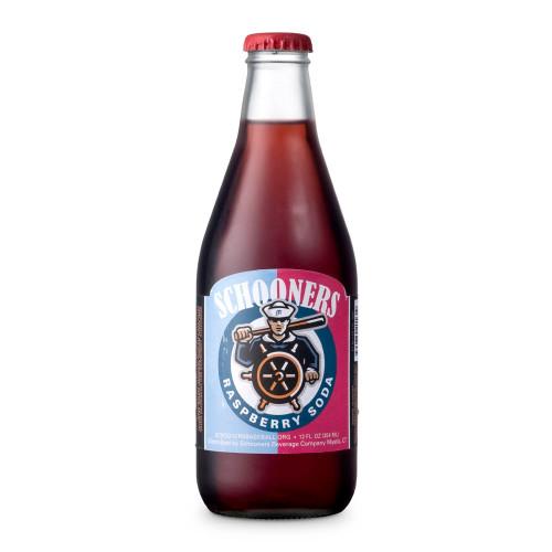 Schooners Raspberry Soda - 12 oz Bottle