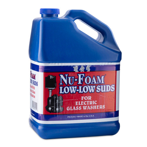 Nu-Foam Low-Low Suds Liquid Detergent For Electric Glass Washers - 1 Gallon