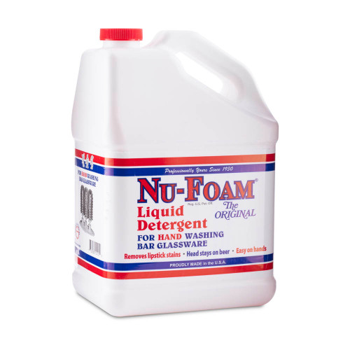 Nu-Foam Liquid Detergent For Hand Washing Bar Glassware - 1 Gallon