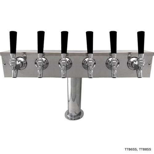 Stainless Steel T Tower with 4-inch Pedestal