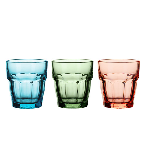 Bormioli Rocco Colored Rocks Glasses - 9.25 oz - Set of 4