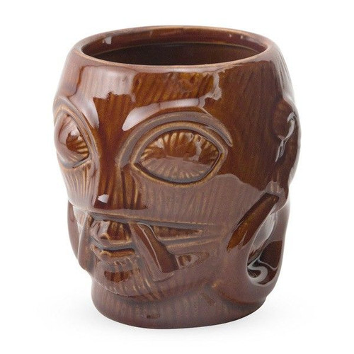 Bora Ceramic Tiki Mug - 12 oz - Brown
