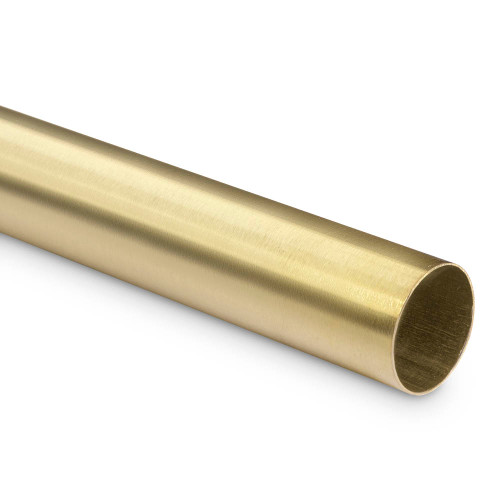 "Bar Foot Rail Tubing - Brushed (Satin) Brass - 2"" OD"