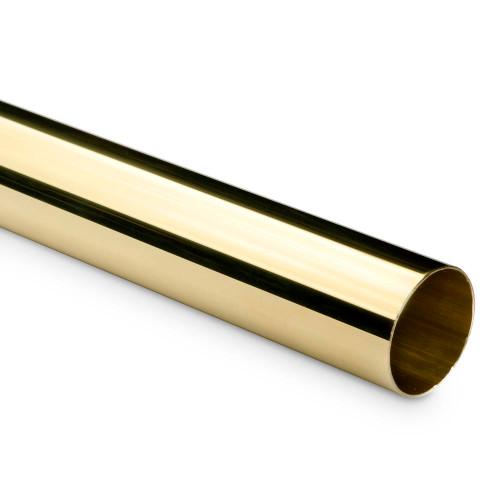 "Bar Foot Rail Tubing - Polished Brass - 2"" OD"