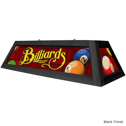 Classic Red Billiards Pool Table Light