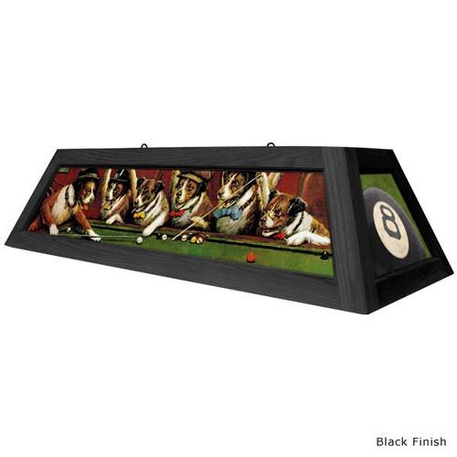 Dogs Playing Pool Billiard Table Light