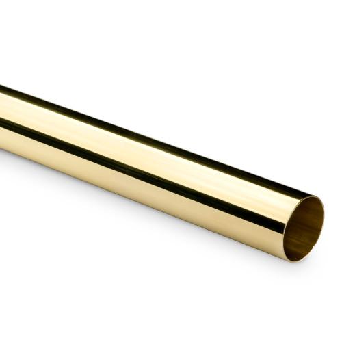 Hand / Bar Foot Rail Tubing - Polished Brass - 1.5-inch OD