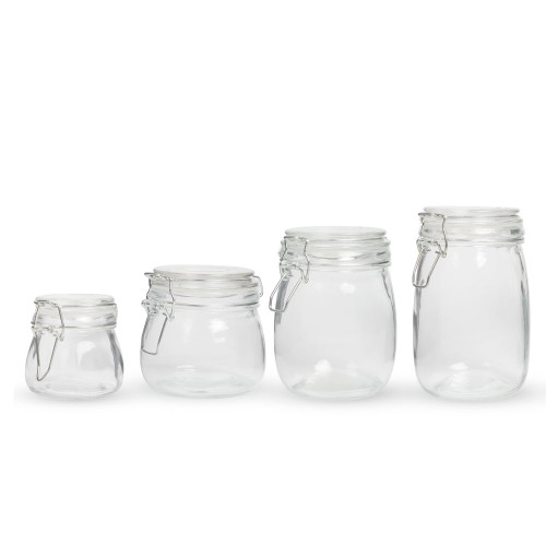 Hinged Apothecary Glass Garnish Jar