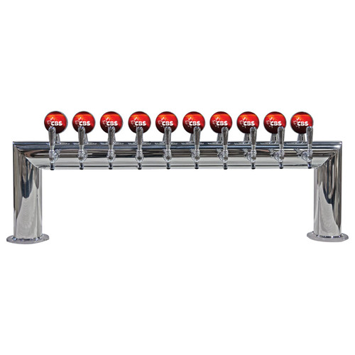 Illuminated Pass-Thru Beer Tower- Glycol Cooled - 8 to 12 Faucets