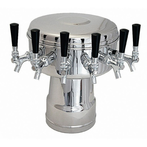 Mushroom Draft Beer Tower- Air Cooled- 4 to 6 Faucets