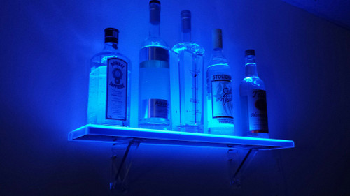 Wall Mounted LED Lighted Liquor Bottle Shelf