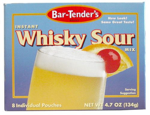 Whiskey sour instant mix