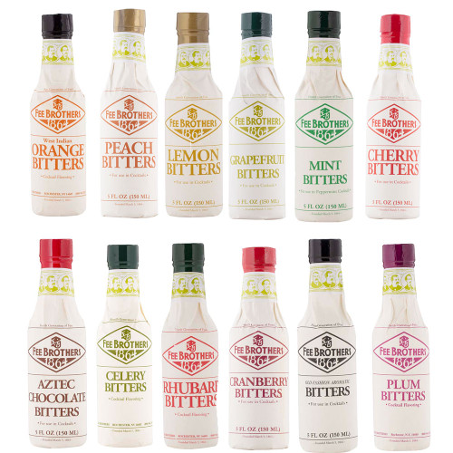 Fee Brothers Bar Cocktail Bitters Deluxe Set - 12 Bottles